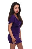 Purple dress Stock Photography