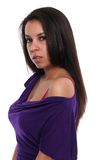 Purple dress Stock Images