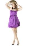 Purple dress Stock Photo