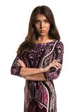 Purple dress Royalty Free Stock Images