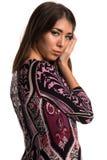 Purple dress Stock Photography