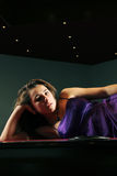 Purple dress on teenager Royalty Free Stock Image