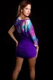 Purple Dress Woman Stock Photography