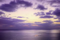 Purple dusk sea Stock Image