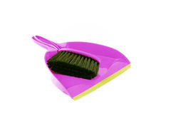 Purple Dustpan Royalty Free Stock Photos