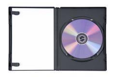 Purple DVD in case Stock Photo