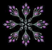 Purple earrings Royalty Free Stock Photos