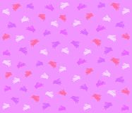 Purple Easter Bunny Background Pattern. A tileable background pattern featuring an Easter bunny print in pink, white and purple Stock Image