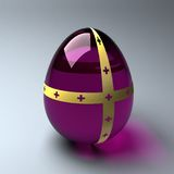 Purple easter egg Stock Images