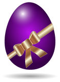 Purple easter egg isolated Royalty Free Stock Photo