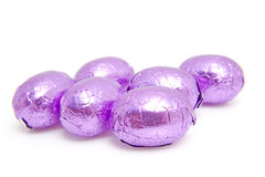 Purple easter eggs Stock Photography
