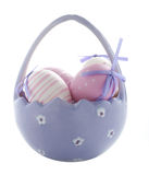 Purple Easter Eggs Royalty Free Stock Images