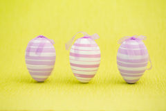 Purple easter eggs standing Royalty Free Stock Images