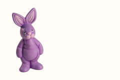 Purple easter rabbit Royalty Free Stock Photo