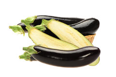 Purple eggplant Stock Photo