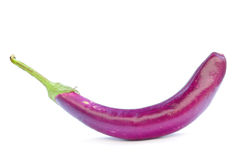 Purple eggplant   on white Stock Photos