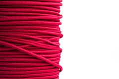 Purple elastic cord stock photography