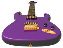 Purple electric guitar Royalty Free Stock Photography