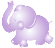 Purple Elephant Royalty Free Stock Photography