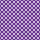 Purple en het Wit Onderling verbonden Patroon van Cirkelstegels herhalen Bac Royalty-vrije Stock Fotografie