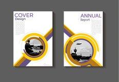Purple en yewllow abstracte de dekkingsachtergrond van het dekkingsontwerp stock illustratie