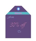 Purple envelop. On white for sale promotion use Stock Image