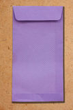 Purple envelopes. On the plywood Stock Images