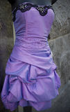 Purple evening gown Royalty Free Stock Images