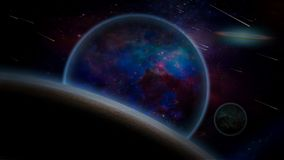 Purple Exo Planets System Stock Photo