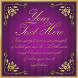 Purple Exotic Holly Cornered Label Background stock photo
