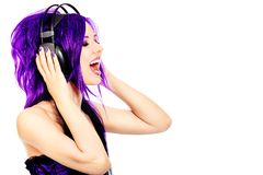 Purple expession Royalty Free Stock Photography