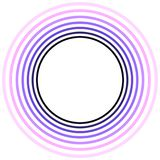 Purple Explosion Circles Frame Royalty Free Stock Image