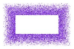 Purple explosion of confetti. Purple frame isolated on white background. Magenta explosion of  confetti.  Mauve flat design element. Vector illustration,eps 10 Royalty Free Stock Photo