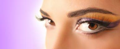 Purple eye Stock Photography