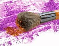 Purple eye shadow and blush make up. Purple eye shadow and blush make up royalty free stock photo