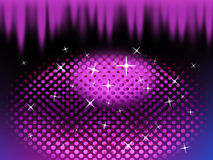 Purple Eye Shape Background Means Circles Ovals And Spikes Stock Photography