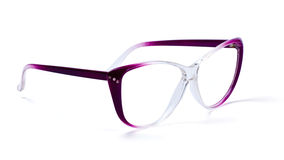 Purple eyeglasses Stock Photos