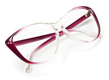 Purple eyeglasses Royalty Free Stock Photo