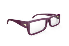 Purple eyeglasses Royalty Free Stock Images