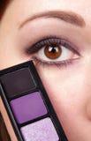 Purple eyeshadow Stock Photos