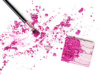 Purple eyeshadow and face powder - make-up for fashion and beauty magazines Stock Images
