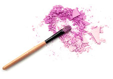Purple eyeshadow and face powder - make-up for fashion and beauty magazines Royalty Free Stock Image