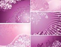 purple för bakgrundssamlingspink Royaltyfri Fotografi