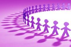 purple för folk 3d Royaltyfria Bilder