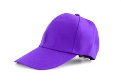 Purple fabric cap Stock Images