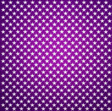 Purple fabric with white stars Royalty Free Stock Photography
