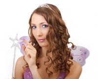 Purple fairy. Royalty Free Stock Photo