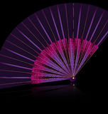 Purple fan Stock Image