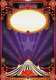 Purple fantastic circus background. A vintage circus background with sunbeams for your entertainment Stock Photo