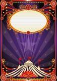 Purple fantastic circus background Stock Photo